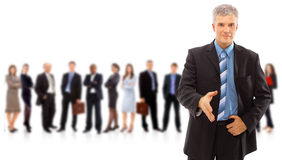 Business man and his team isolated Royalty Free Stock Images