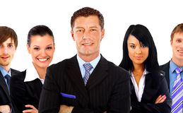 Business man and his team isolated Royalty Free Stock Photos