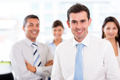 Business man with his team Stock Image