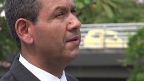Business Man, Hispanic Male stock video