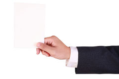 Business man hold blank paper Royalty Free Stock Photo