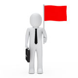 Business man hold flag Stock Photo