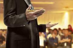 Business man hold pen Royalty Free Stock Photos