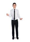 Business man hold something Royalty Free Stock Image