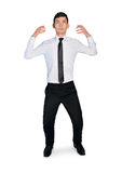 Business man hold something Royalty Free Stock Photography