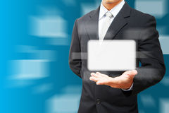 Business man hold space box Royalty Free Stock Image