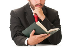 Business man holding a book Royalty Free Stock Images