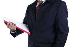Business man holding book Royalty Free Stock Photo