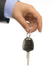Business man holding car key, close-up Stock Photo