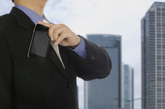 Business Man Holding Cellphone Royalty Free Stock Photo