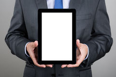 Business man holding digital tablet PC Stock Image