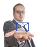 Business man holding envelope Symbol Royalty Free Stock Photo