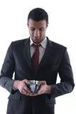 Business man holding money Stock Photos