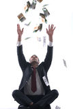 Business man holding money Royalty Free Stock Photos