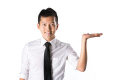 Business man holding out his hand. Royalty Free Stock Photography