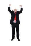 Business man holding something Stock Images