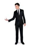 Business man holding something Royalty Free Stock Photography