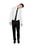 Business man hung position Stock Photography