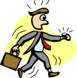 Business man in a hurry vector illustration Stock Images