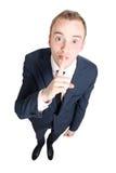 Business man hushing Stock Photography