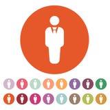 The business man icon. Avatar and user, men, gentleman symbol. Flat Stock Photos