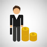 Business man icon Royalty Free Stock Image