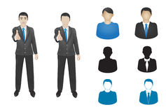 Business man icon Stock Images