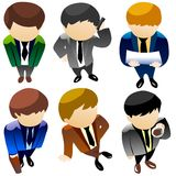 Business man icon set Royalty Free Stock Photo