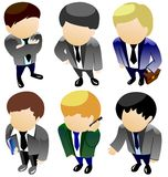 Business man icon set Stock Images