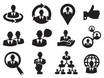 Business Man Icon Set for Human Resource Royalty Free Stock Photos
