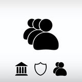 Business man icon, vector illustration. Flat design style Stock Images