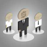 Business man icons Stock Image