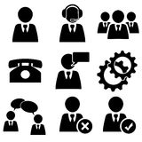 Business man icons set pack Royalty Free Stock Images