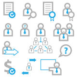 Business man icons Stock Photography