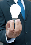 Business man with idea Royalty Free Stock Images