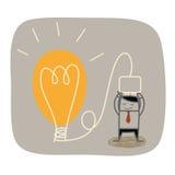 Business man  idea bulb Stock Image