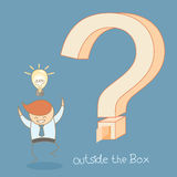 Business man idea outside the box Stock Images