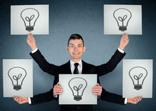 Business man with ideas Royalty Free Stock Photos
