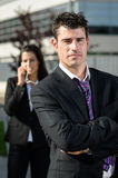 Business man idly royalty free stock photography