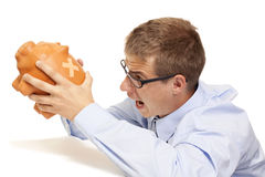 Business Man In Crisis Time Stock Image