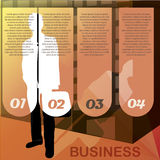 Business man infographic Royalty Free Stock Photography
