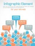 Business man infographich option three orange Stock Images