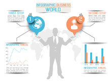 Business man infographich option Stock Images