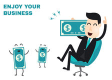 Business man infographics Royalty Free Stock Photos