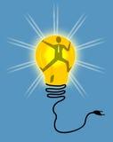 Business man inside idea vector illustration