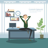 Business Man Interior Workplace, Businessman Manager Office Worker Royalty Free Stock Image