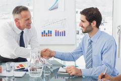 Business man introducing new employee Stock Image