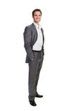 Business man isolated over white background Royalty Free Stock Photography