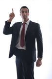 Business man isolated over white background Stock Photos