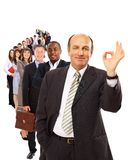 Business man isolated on white Stock Photography